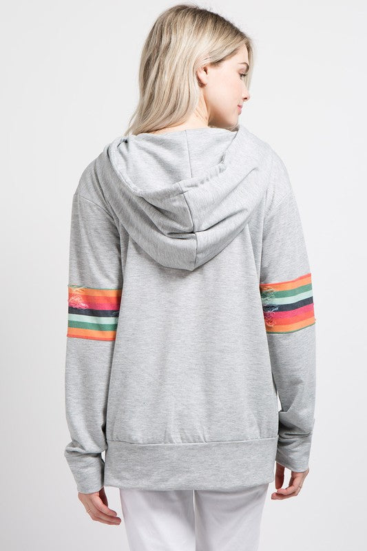 Distressed Rainbow Pullover