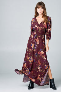 Eve Maxi Dress - Burgundy