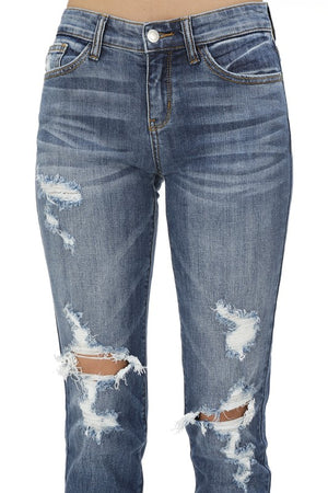 Judy Blue Boyfriend Denim - Medium Wash