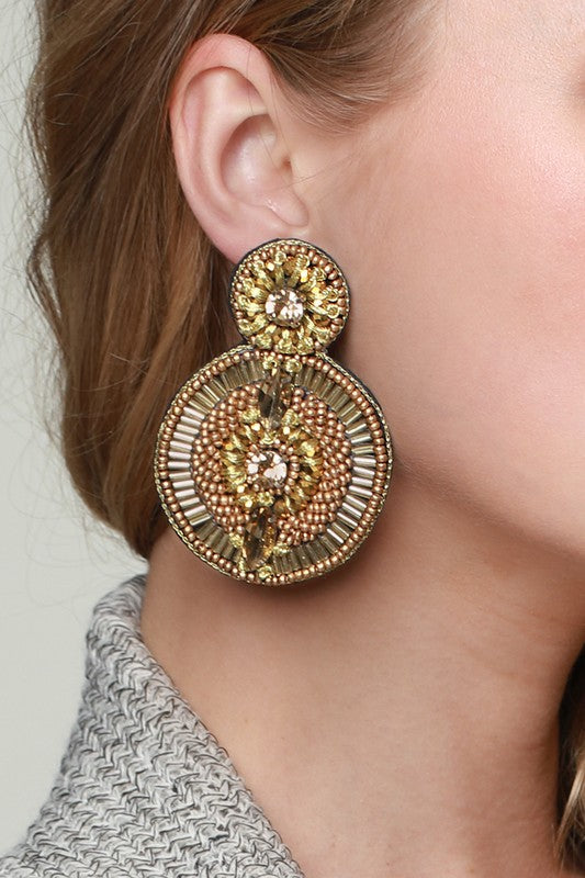 Dazzle Beaded Earrings