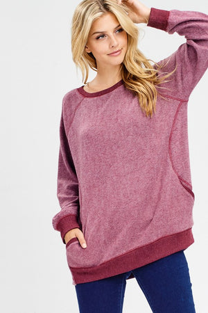 Brushed Pocket Pullover