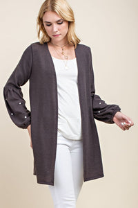 Pearl Accent Cardigan