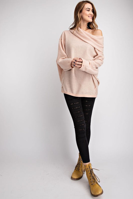Brushed Knit OTS / Cowl Neck Top