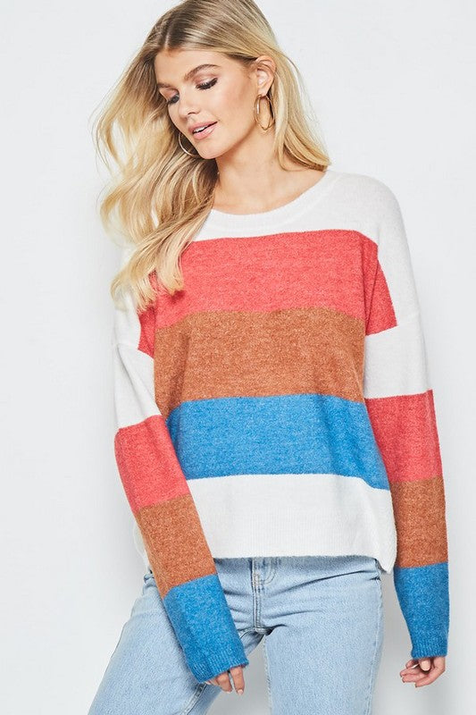 Americana Striped Pullover Sweater