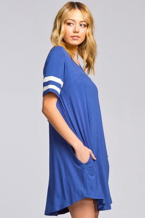 Panel Sleeve Shirt Dress