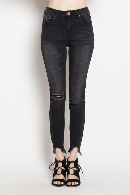 Ava Distressed Denim (Jeans/Black)