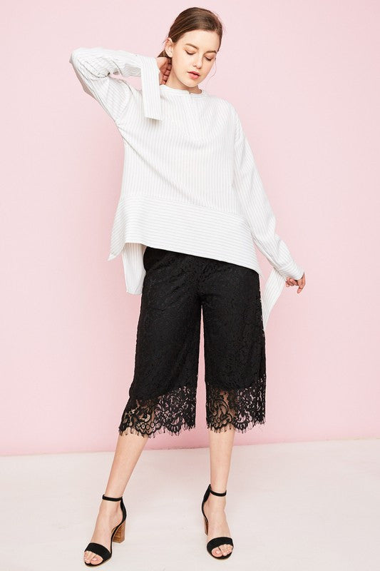 Black Lace Culottes