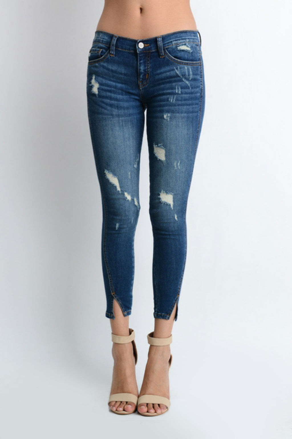 KanCan Split Hem Ankle Denim