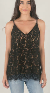 All Over Lace Cami - Black