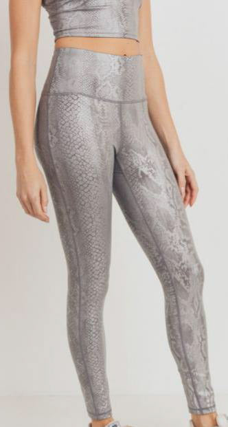 Silver Snake Leggings