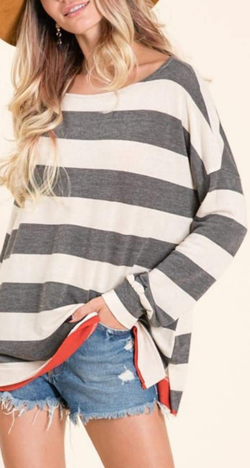 Everly Striped Top