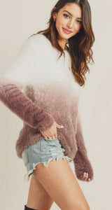 Skye Ombre Furry Sweater