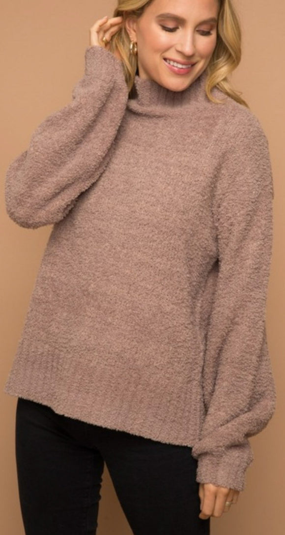 Teddy Mock Neck Sweater