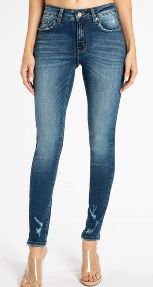 Mid Rise Dark Wash Denim