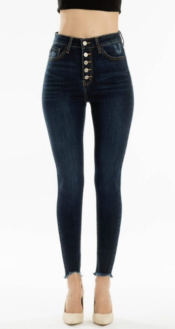 Dark Wash High Rise Denim