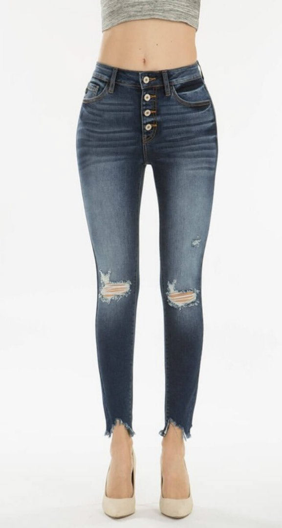 High Rise Ankle Denim