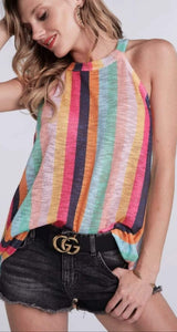 Blushing Stripes Tank