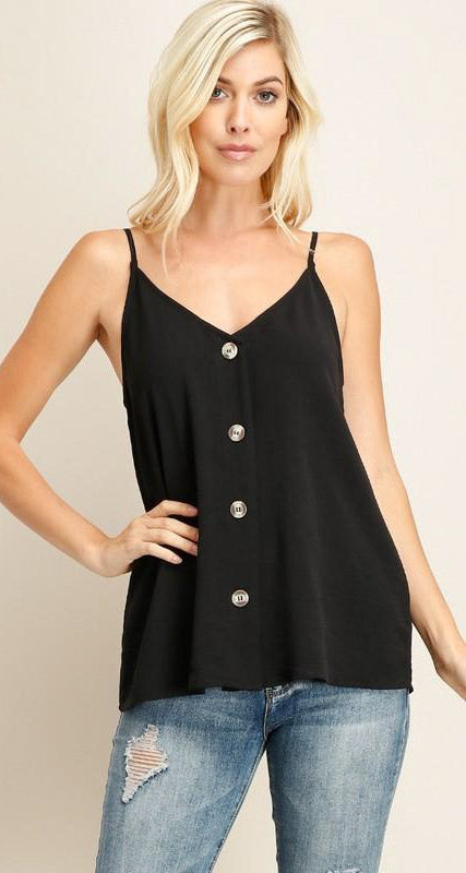 Silk Button Cami