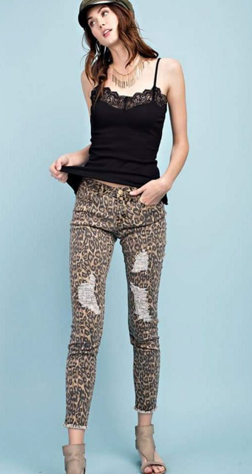 Leopard Skinny Ankle Pant