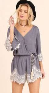 Willow Lace Trim Romper