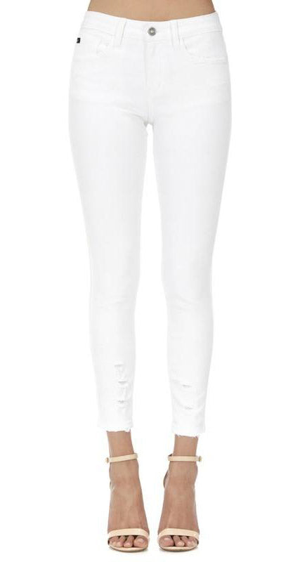 White Skinny Ankle Denim