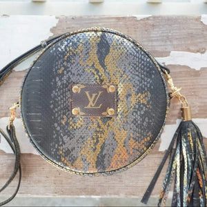 Michalke Made Circular Crossbody - Metallic Snakeskin