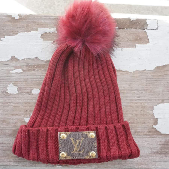 Michalke Made Patch Beanie - Burgundy