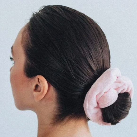 Microfiber Towel Scrunchie - Blush