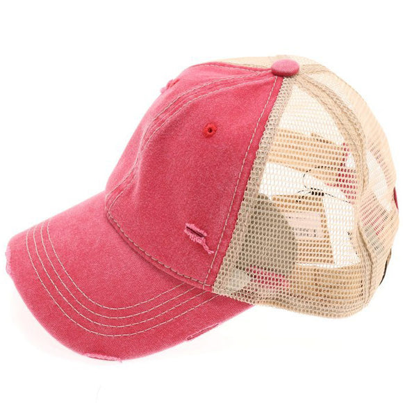 Classic C.C Ballcap - Distressed Red