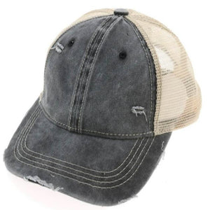 C.C Classic Ball Cap - Distressed Black