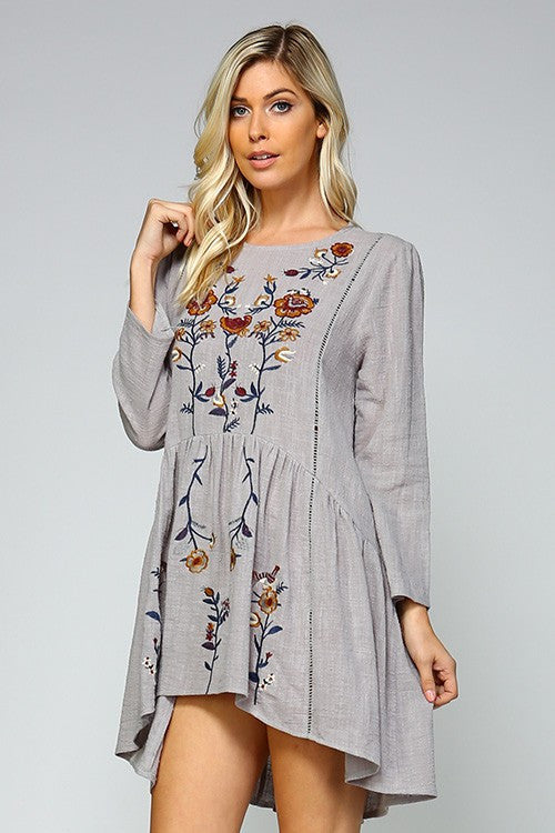 Summer Love Embroidered Peplum Tunic