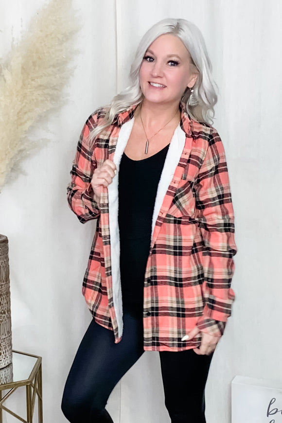 Pretty in Plaid Fleece Lined Top