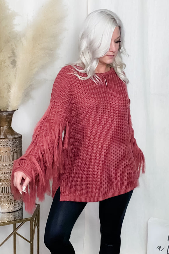 Carly Fringe Sweater
