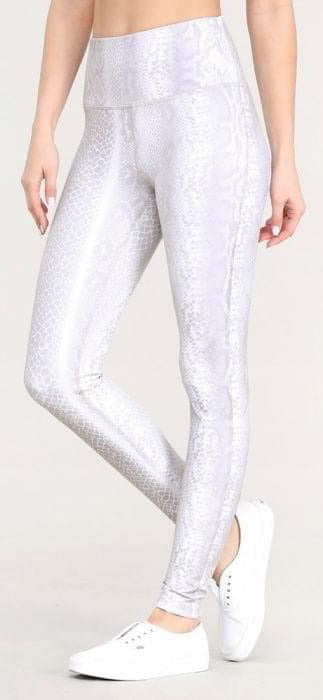 White Snake Leggings