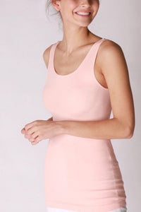 Reversible Comfort Stretch Tank - Baby Pink