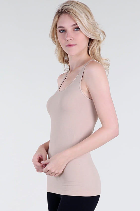 Comfort Stretch Tank/Long Length - Nude