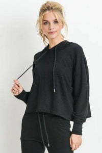 Blackout Cropped Hoodie