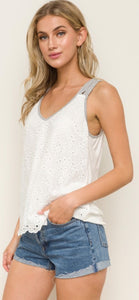 Tilly Eyelet Top