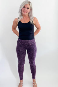 Zena Mineral Wash Leggings - More Colors