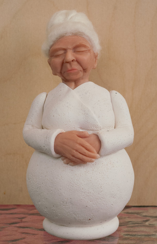 Mummi Figurine ~ Clay Sculpture ~ Grandmother ~ Friendship Gift ~ Hand Sculpted