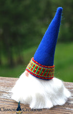 Swedish Christmas Tomte with Blue Wool Hat