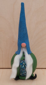 Swedish Christmas Gnome with Blue Hat and Green Coat~ House Warming Gift