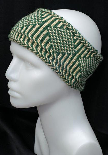 Swedish Nordic Knit Headband - 100% wool