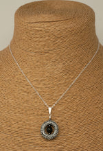 Classon Designs - Gemstone Necklace, Lifesaver Pendant Onyx Bead