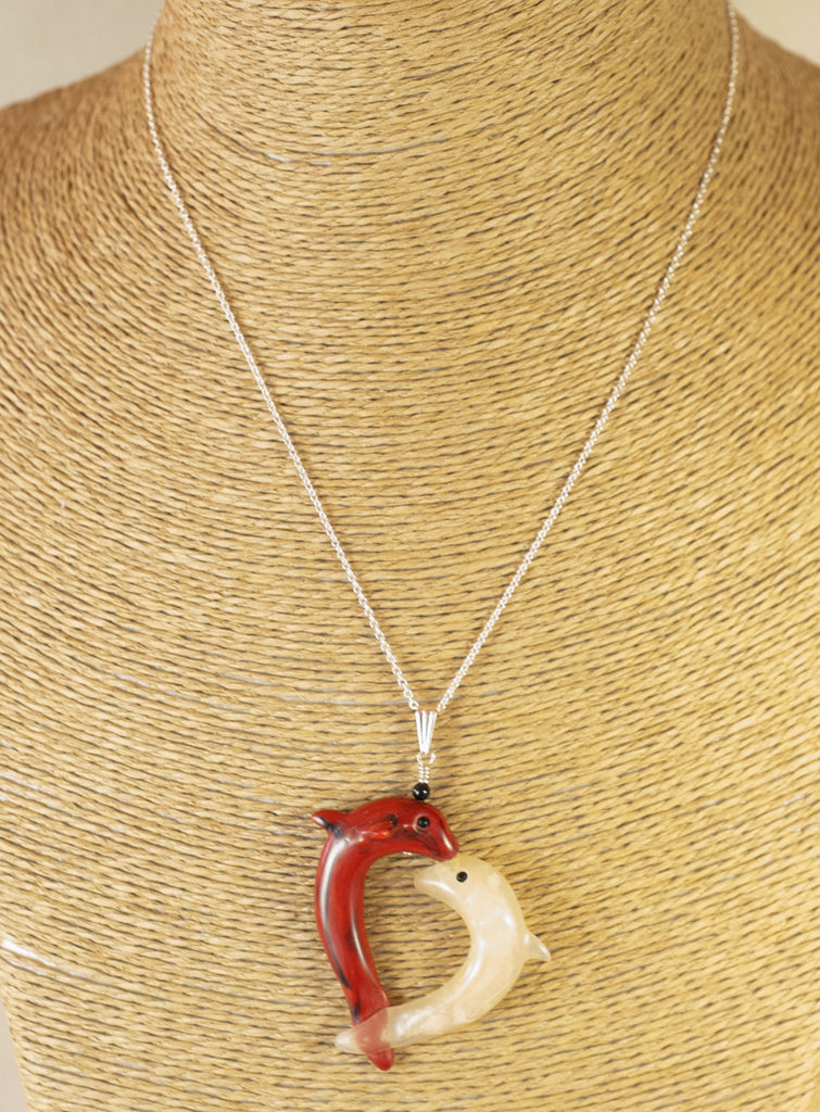 2 Dolphins Pendant - Heart to Heart