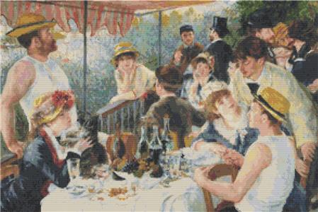 The Luncheon of the Boating Party ~ The Art of Stitch