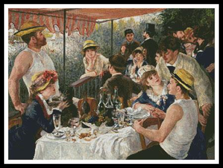 Luncheon of the Boating Party - #13659 ~ Artecy Cross Stitch