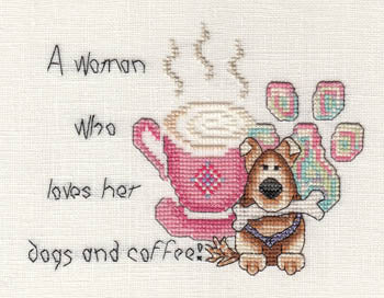 Woman Who Loves Her Dogs And Coffee ~ MarNic Designs