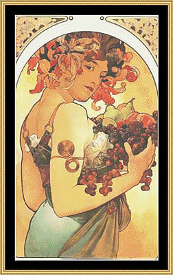 Fruit (Mucha) ~ Mystic Stitch