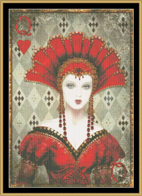Queen Of Hearts ~ Mystic Stitch